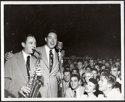 saxophonist JIMMY DORSEY & ANDY RUSSELL singer VINTAGE PHOTO jazz bandleader