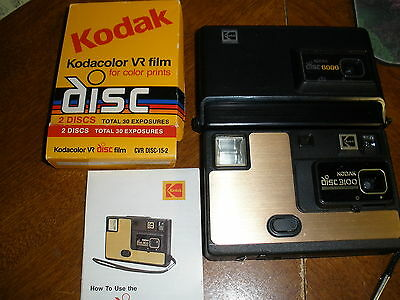 Lot of vintage Kodak Disc Cameras 3100 & 6000 plus Kodak disc film