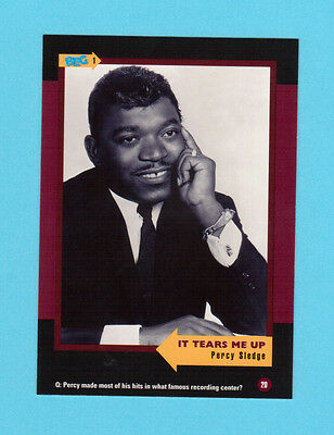 Percy Sledge Soul Music Collector Card  Have a Look!