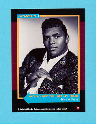 Solomon Burke Soul Music Collector Card  Have a Look!