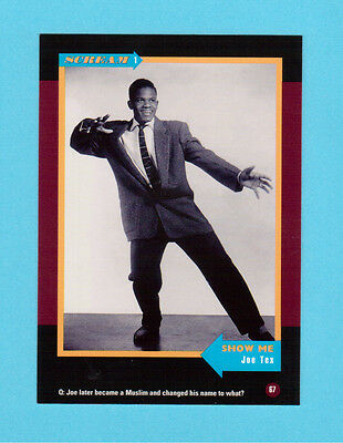 Joe Tex  Soul Music Collector Card  Have a Look!