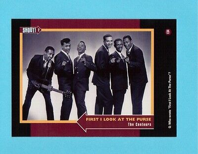 The Contours Soul Music Collector Card  Have a Look!