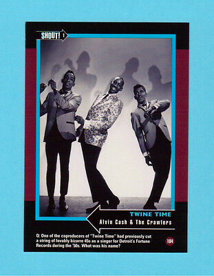 Alvin Cash & The Crawlers Soul Music Collector Card  Have a Look!
