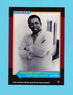 Lou Rawls Soul Music Collector Card  Have a Look!