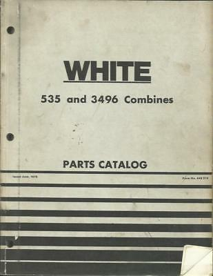 White 535 And 3496 Combines Part Catalog
