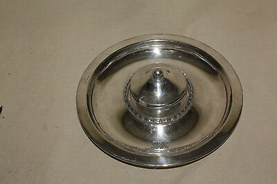 Roberts & Belk Silverplate Crudite Dish With Covered Condiment Bowl 7078