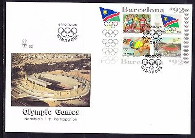Namibia 1992  Barcelona Olympics Mini Sheet First Day Cover Large