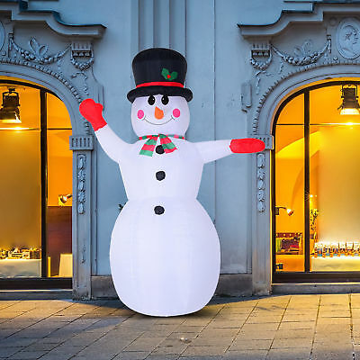8FT Inflatable Christmas Snowman Airblown Holiday Yard Decoration 8 LED Lights