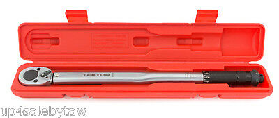 1/2 inch Click Torque Wrench 10-150-Feet/Pound with storage case TEKTON
