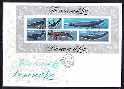 South Africa 1980 Whales MS First Day Cover Large