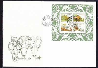 South Africa 1982 Karoo Fossils  MS  First Day Cover Large