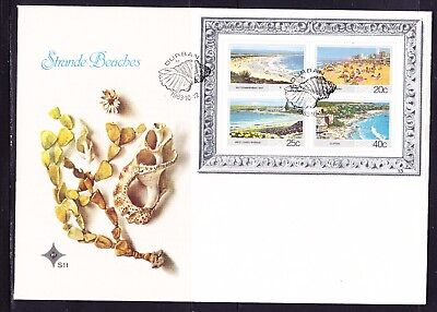South Africa 1983 Strande Beaches Miniature Sheet First Day Cover Large