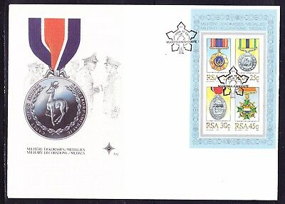 South Africa 1984 Military Medals  MS  First Day Cover Large