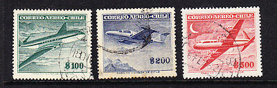 Chile  -1955 Airmails Foreign Watermark Issues