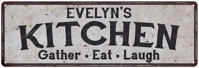 EVELYN'S Kitchen Rustic Look Chic Sign Home Décor Gift 6x18 Sign 61804968