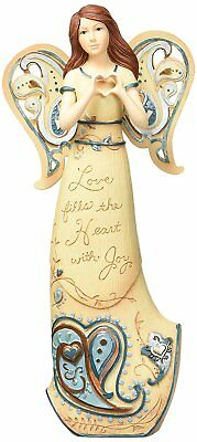 Perfectly Paisley Love Fills The Heart Angel Figurine by Pavilion, 7-1/2-Inch