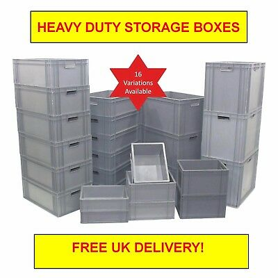 Very Strong HD Commercial Type Stackable Plastic Eurobox Container Storage Boxes
