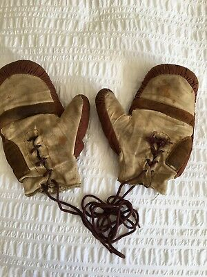 Pair Of Vintage Child's Boxing Gloves