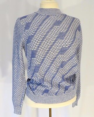 Vintage 70s Blue Knit Sweater NWT Small