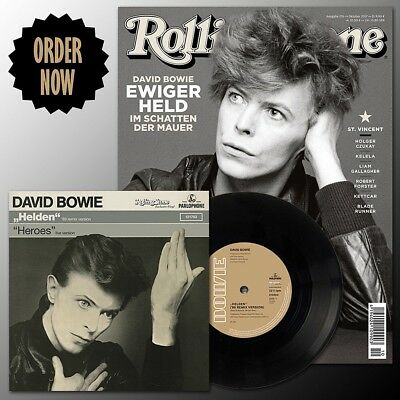 "David Bowie Rolling Stone Magazine October German Germany Issue Heroes 7"" Vinyl"