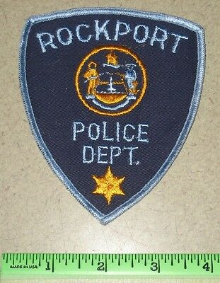 Rockport Maine State of ME Law Enforcement Police Patch - Knox County