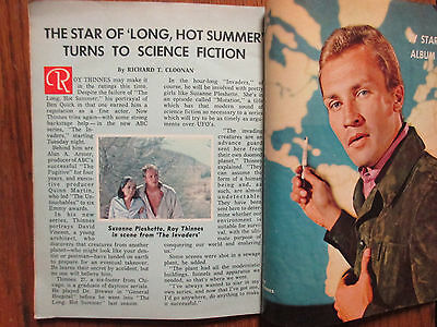 1967 Boston Sunday Herald TV Mag(THE INVADERS/ROY THINNES/PEGGY LIPTON/JACK WEBB