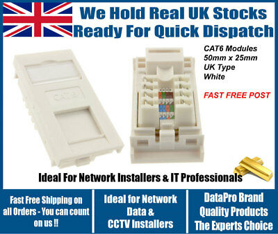 Cat6 Rj45 Gigabit Keystone Jack Network Module Ethernet Data Outlet High Quality