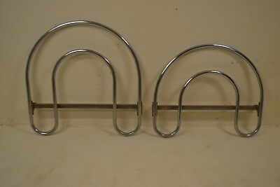 Stunning Vintage Pair Art Deco Pel Chrome Bed Head & Foot Boards