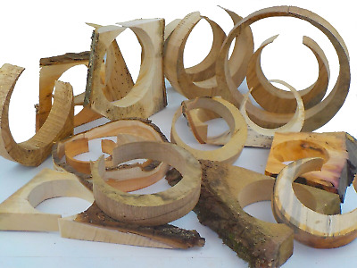 Box of 21 circular wood offcuts / shapes.  Jewellery display, art & craft.  1252