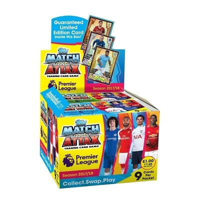 EPL Match Attax 2017/18 Trading Card Game - 50 Packs Brand New