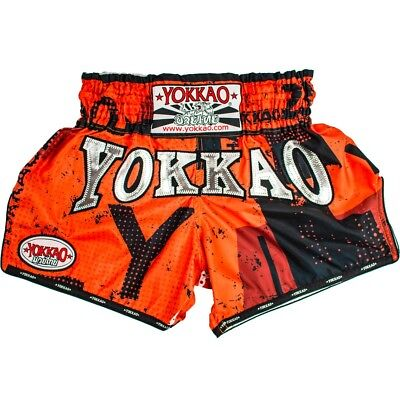 "Yokkao Carbonfit ""urban""  Muay Thai Boxing Shorts - Orange"