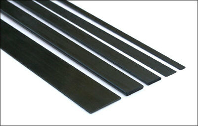 10x Short Lengths 5mm x 1mm x 200mm Pultruded Carbon Fibre Strips (S51-200)