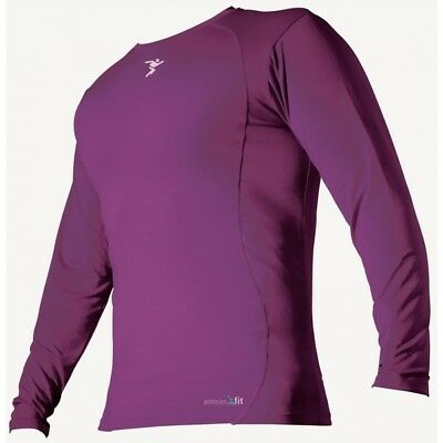 PT Base-Layer Long Sleeve Crew-Neck Shirt Small Boys Purple - Brand New!