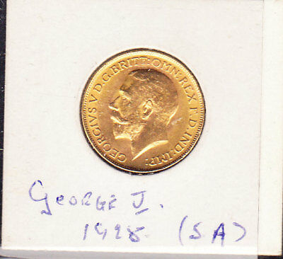 1928 GEORGE V   s.a   sovereign
