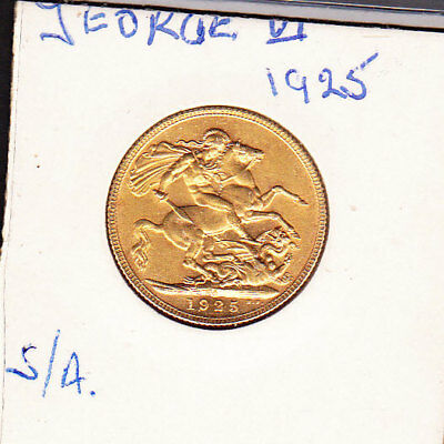 1925  GEORGE V  S/A  sovereign