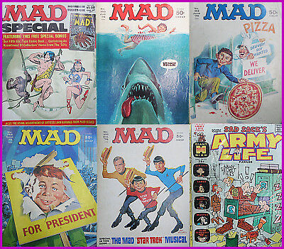 MAD MADNESS..Great group of five Mad pulications, plus free Sadsack