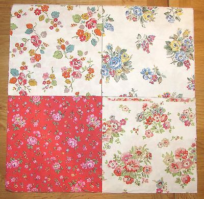 Cath Kidston Paper Napkins/serviettes X 4 -1 Of Each Design- Decoupage - Craft