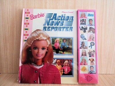 Barbie Action News Reporter Play -a-Sound Hear Sounds of Barbie's Busy Day RARE