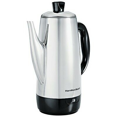 40616 StainlessSteel 12Cup Electric Percolator Coffee Pot Maker NEW