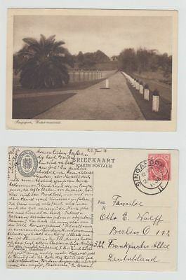 Straits Settlements Old Postcard Singapore Water Resevoir To Germany 1936 !!