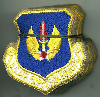 Lot of 20 Vintage US Air Forces In Europe Color Patch Cut Edge