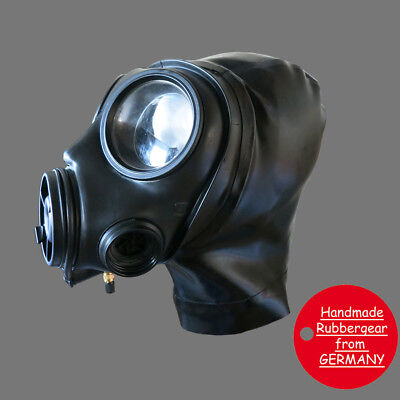 Latex Rubber Gum Studio Gas Mask - Latexmaske Gasmaske - custom made - b3