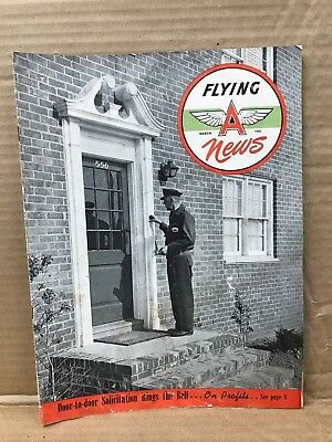 Vintage Original March 1951 Flying A News Publication