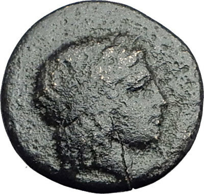 Kolophon Colophon IONIA 360BC Authentic Ancient Greek Coin APOLLO & HORSE i64434