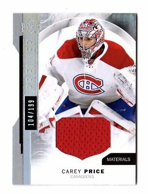 Carey Price Nhl 2015-16 Upper Deck Premier Jerseys #/199 (Montreal Canadiens)