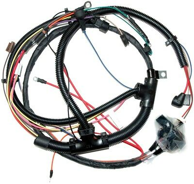 73 chevy nova engine wiring harness, v8 with factory gauges, new