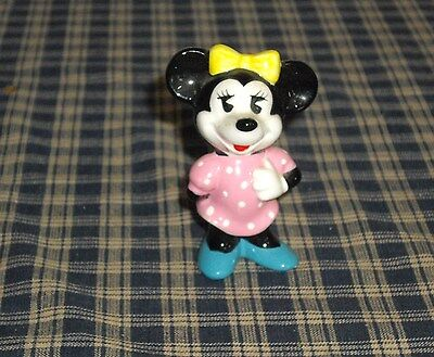 """1960's Disney Minnie Mouse 3"""" Figure  Made in Japan"""