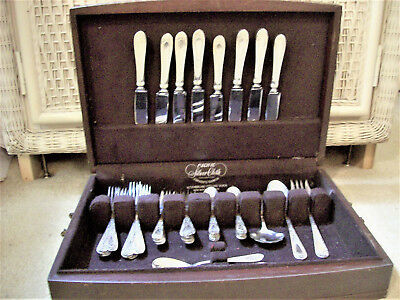 Set Of '37', Service For '8', Sterling Silver Betsy Patterson Engraved Stieff