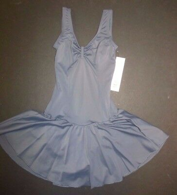 NWT Steel Gray Ice Skating Skate Dress Body Wrappers Xsmall adult P717 pinchfrnt