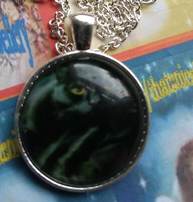 """Mythical/Magic/Spiritual Jewellery """"Lucky Black Cat"""" Round Pendant Necklace"""